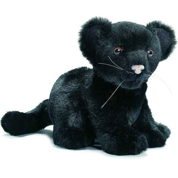 Anima - Peluche bebe panthere noire assis 18 cm -3426