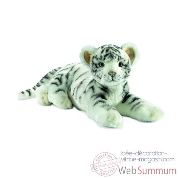 "Anima - Peluche tigre blanc ""junior\"" 35 cm -4754"