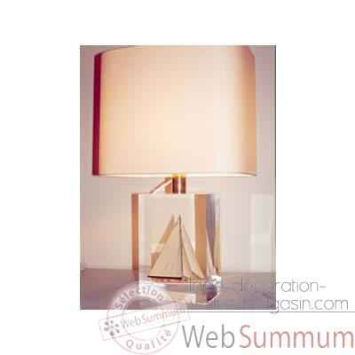 Moyenne Lampe Rectangle Yacht Classe-J Abat-jour Rectangle Beige-130