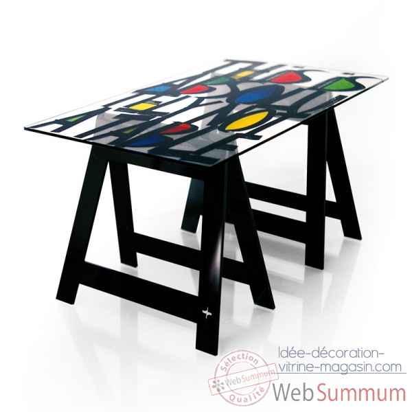 bureau tr teaux castelbajac graffy acrila btcg dans mobiliers de mobilier design acrila sur. Black Bedroom Furniture Sets. Home Design Ideas