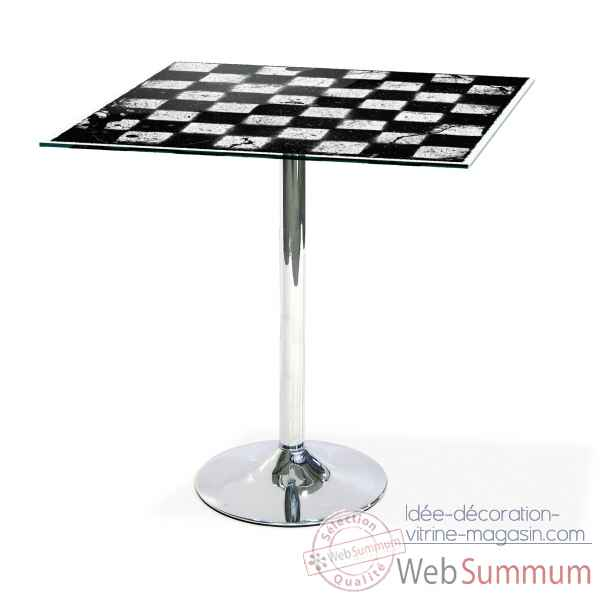 Table mange debout graph damier Acrila -Acrila41