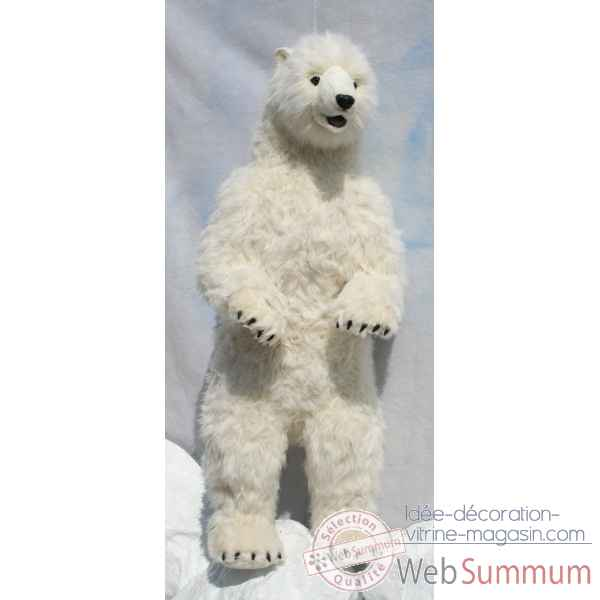 Peluche Automate ours polaire dresse 150cmh/65cml (3650) Anima -0241