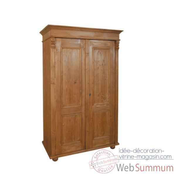 Armoire droite 2 portes penderie tag res antic line - Antic line meubles ...