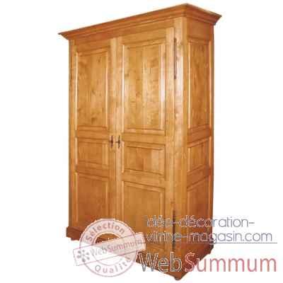 Armoire 2 portes d montable penderie tag res antic - Antic line meubles ...
