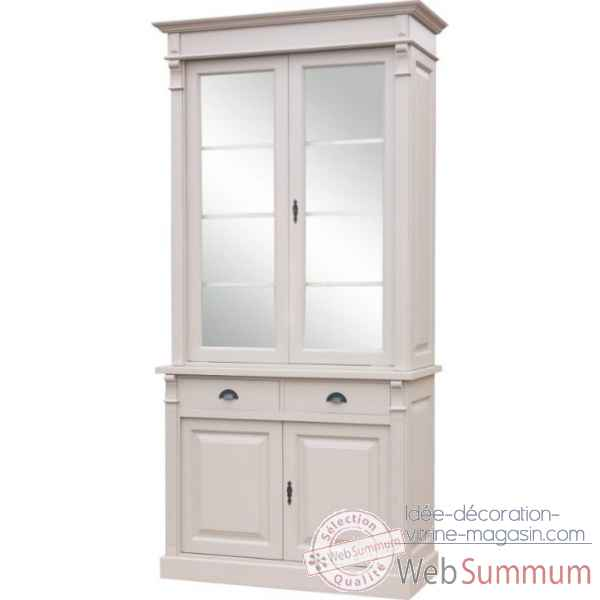 Buffet 2 portes + 2 tiroirs (poignees coquilles) Antic Line -CD289B