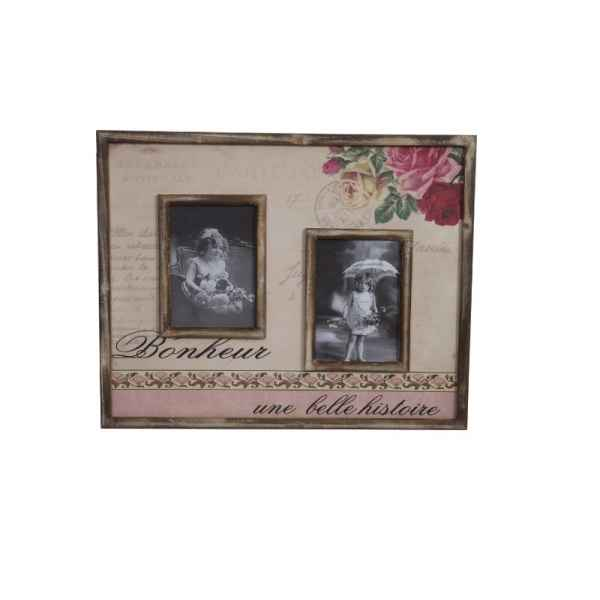 Cadre 2 photos shabby chic Antic Line -SEB12705