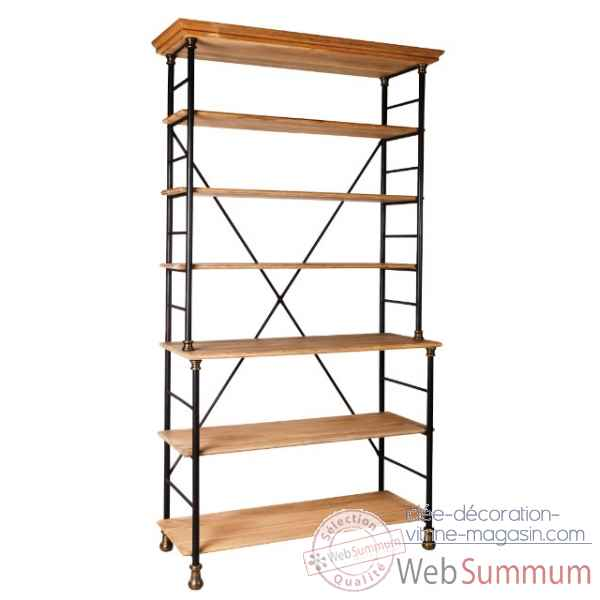 Etagere fer et bois cire antique Antic Line -CD387