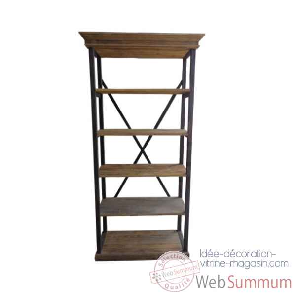 Etagere industrielle 100 x 44 x 220 Antic Line -CD497