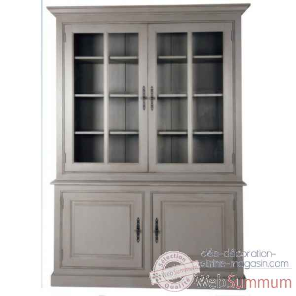 Haut 2 portes vitrees Antic Line -CD402H