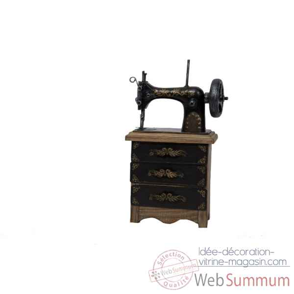 Machine coudre d corative 3 tiroirs avec bo te for Boite machine a coudre