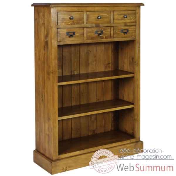 Meuble d 39 office 6 tiroirs boutons fers et porte - Antic line meubles ...
