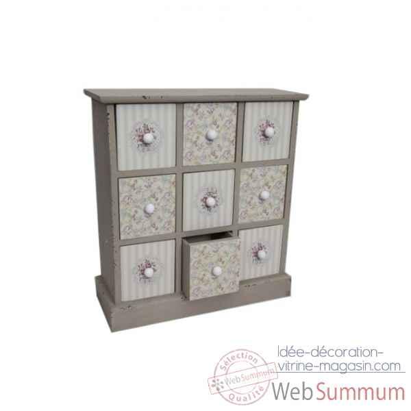 Mini commode 9 tiroirs antic line dans ameublement de for Mini meuble tiroir