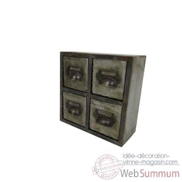 Mini commode 4 tiroirs antic line dans ameublement de - Mini commode plastique ...