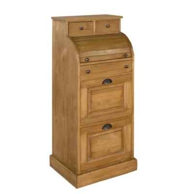 Secretaire a cylindre (poignees coquilles + boutons fer) Antic Line -CD132