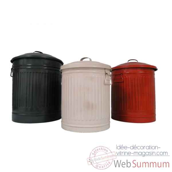 Set de 3 poubelles Antic Line -SEB13440