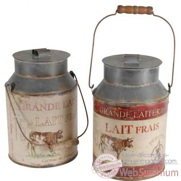 "Set 2 pots a lait ""grande laiterie\"" Antic Line -DEC8012"