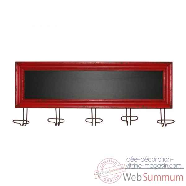 Tableau noir 5 pat res rouge antic line seb13827 de - Antic line meubles ...