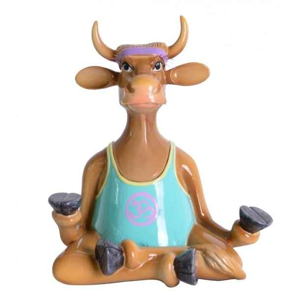 Vache figurine yoga cow Art in the City -84148