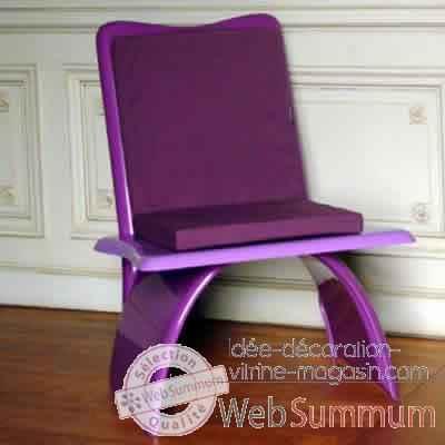 fauteuil design vagance lilas art mely am20 dans chaise d coration magasin. Black Bedroom Furniture Sets. Home Design Ideas