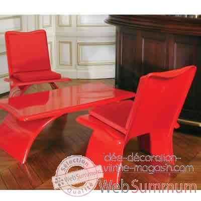 Fauteuil design Vagance rouge Art Mely - AM18