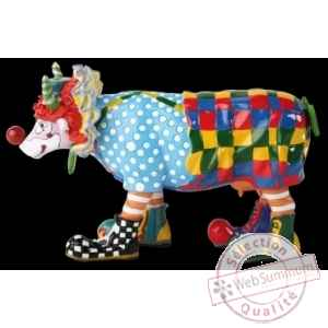 Figurine Vache charlie, the clown 15cm Art in the City 80825