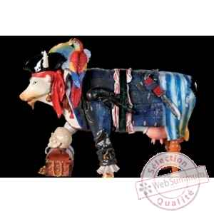 Figurine Vache cow pirate 15cm Art in the City 80828
