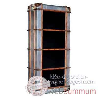 Bibliotheque dakota en finition aluminium whisky arteinmotion -lib-dak0027