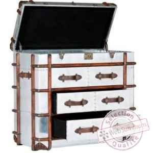 Commode dakota en finition aluminium whisky 3 tiroirs arteinmotion -cas-dak0028