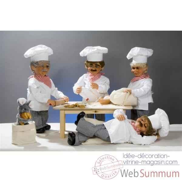 decoration patisserie noel Automate   boulanger avec rouleau à pâtisserie Automate Décoration  decoration patisserie noel