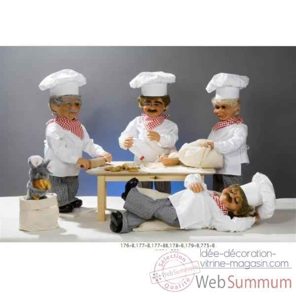 Automate boulanger endomi contre un sac de farine automate d coration no l - Idee deco boulangerie ...