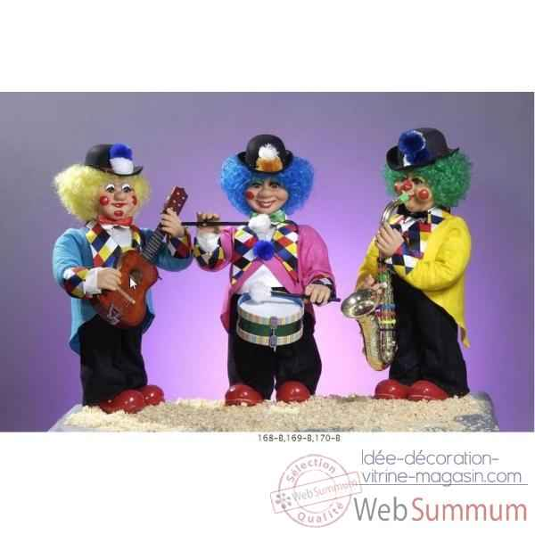 Automate - clown jouant de la guitare Automate Decoration Noel 170-B