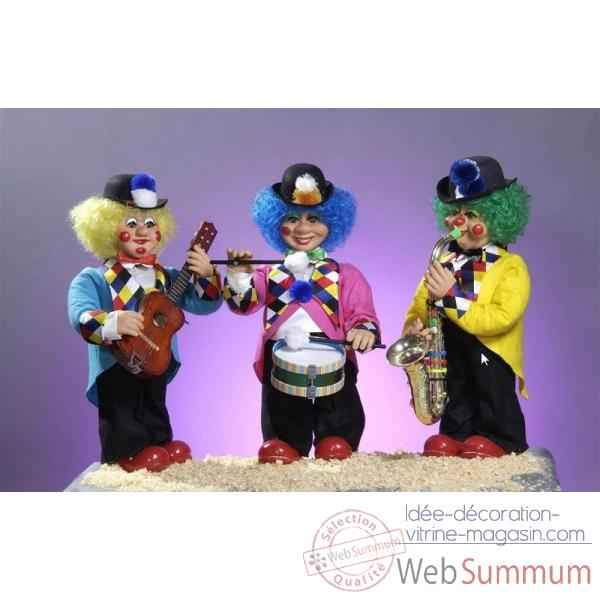 Automate - clown jouant du saxophone Automate Decoration Noel 169-B