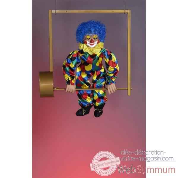 Automate - clown sur trapeze Automate Decoration Noel 56-B