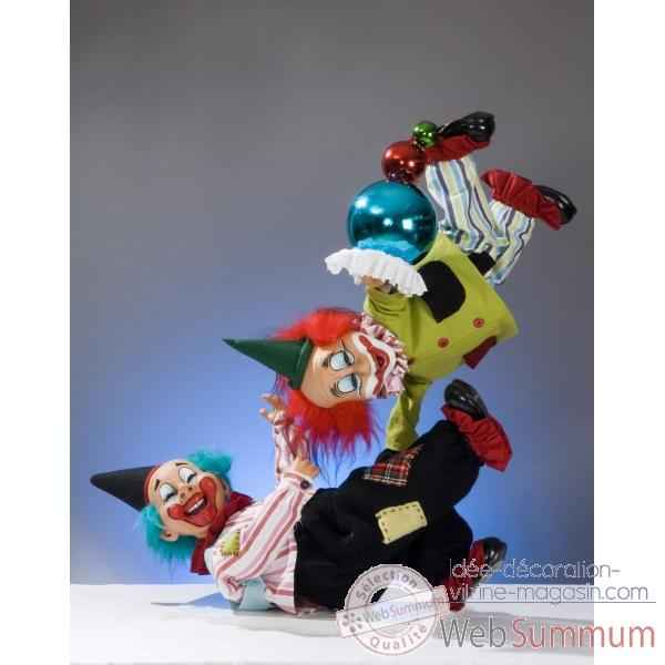 Automate - clowns equilibristes Automate Decoration Noel 650