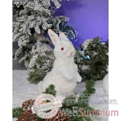 Automate - lapin blanc, assis Automate Decoration Noel 781