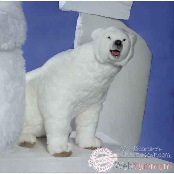 Automate , ours polaire tournant la tete Automate Decoration Noel 328