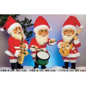 Automate - pere-noel jouant des percussions Automate Decoration Noel 168-A