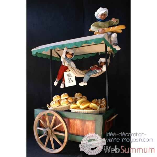 Decor - chariot a fruit ou pain Automate Decoration Noel 760-K