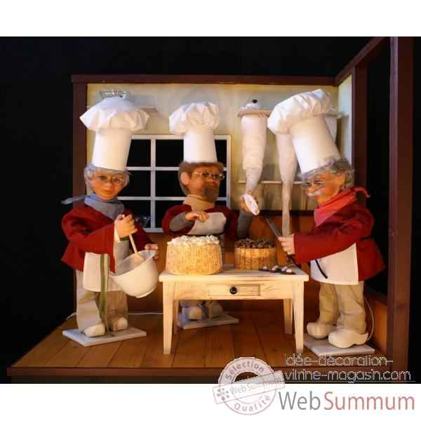 Decor - dans la patisserie Automate Decoration Noel 190-K