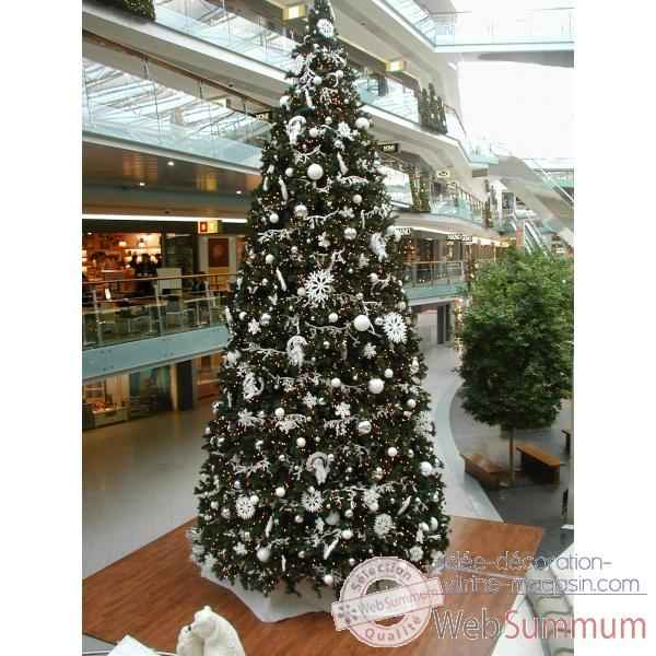 Sapin de no l g ant professionnel pin vert 10m de automate for Decoration de noel professionnel