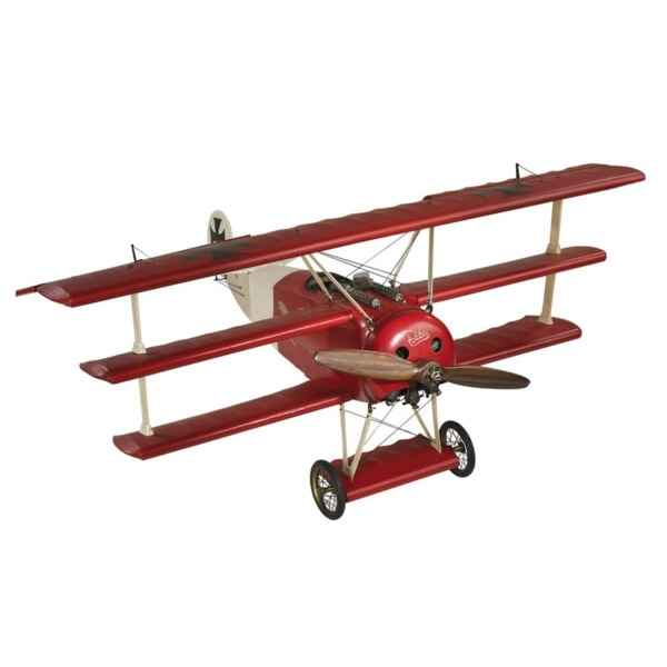 Replique d\'Avion Fokker Triplan Baron Rouge -amfap010