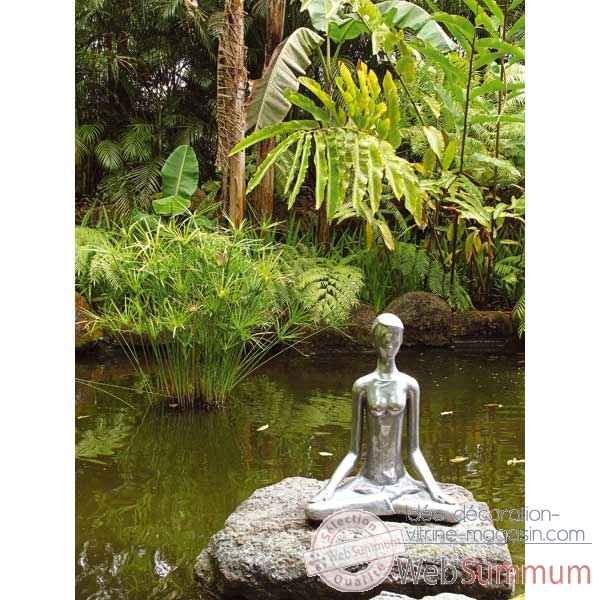 Sculpture-Modele Yoga Meditation Pose, surface bronze nouveau-bs1511nb