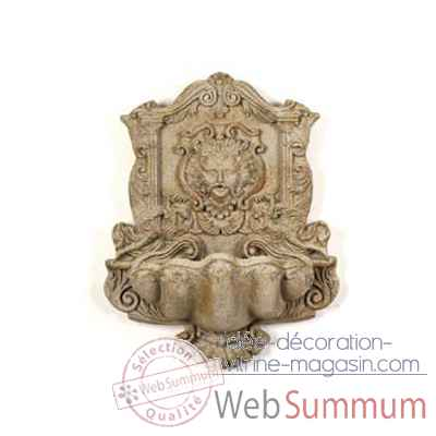 Fontaine-Modele Wind God Wall Fountain, surface granite-bs2197gry