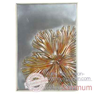 Decoration murale-Modele Dianthus Wall Plaque, surface aluminium-bs2391alu