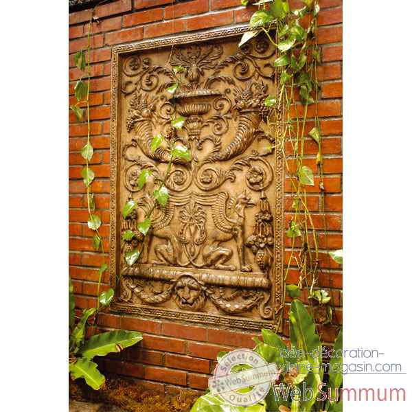 Decoration murale-Modele Wall Decor-Griffin Motif, surface rouille-bs2602rst