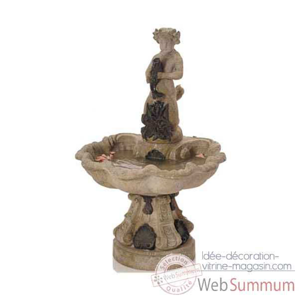 Fontaine-Modele Alsace Fountain, surface gres combines avec du fer-bs3103sa/iro