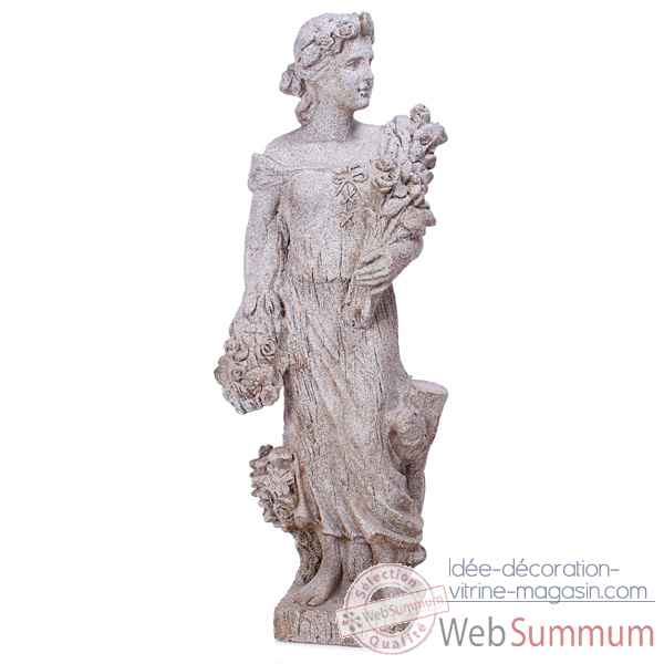 Sculpture-Modele Goddes of Spring, surface pierres granite-bs3133gry