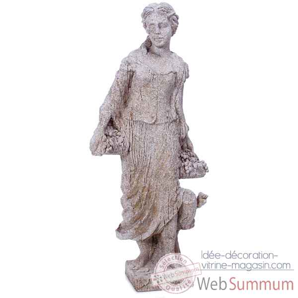 Sculpture-Modele Goddes of Autumn, surface pierres granite-bs3134gry