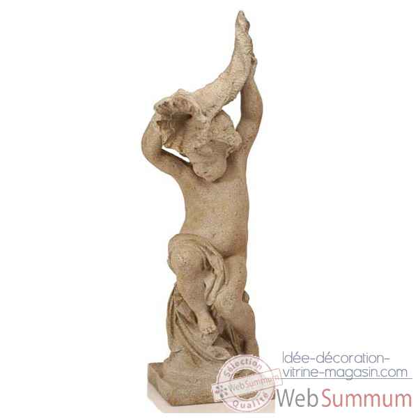 Fontaine-Modele Garden Cupid w. Cornucopia Fountainhead, surface gres-bs3144sa