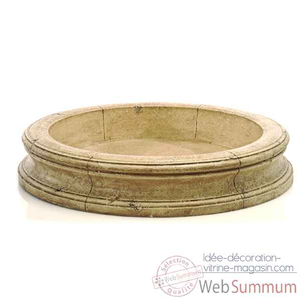 Fontaine-Modele Pisa Fountain Basin, surface pierre romaine-bs3191ros